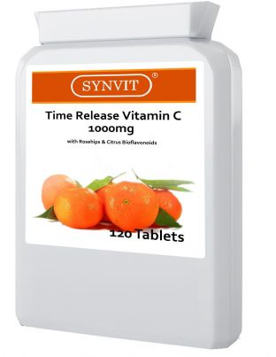 VITAMIN C 1000MG 120 TIME RELEASE WITH CITRUS + BIOFLAVANOIDS TABLETS SYNVIT